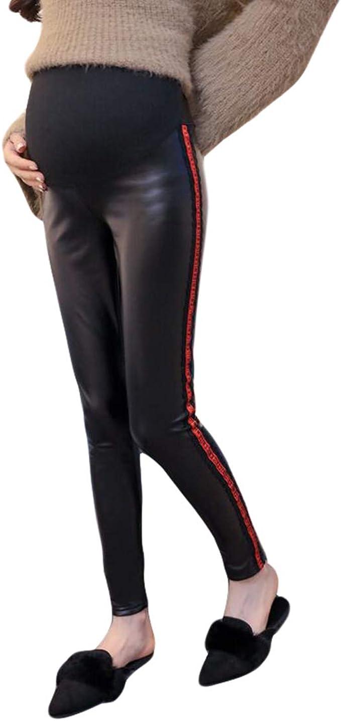 Pantalon Grossesse Femme Enceinte Noir Elastique Legging