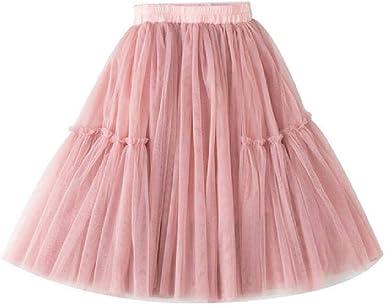 Faldas de Verano para niñas Falda de algodón para niños Falda de Cintura elástica para niña Falda de Longitud Media Ropa para niños: Amazon.es: Ropa y accesorios
