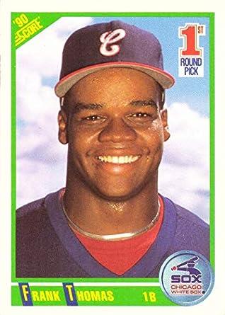 Amazoncom 1990 Score Baseball 663 Frank Thomas Rookie