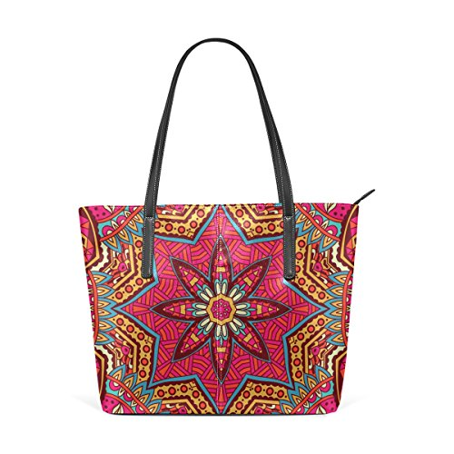 Coosun Ethnic Tribal Ornament Extract Pu Leather Handbag Bags Purse And Tote Bag For Women Means Muticolour