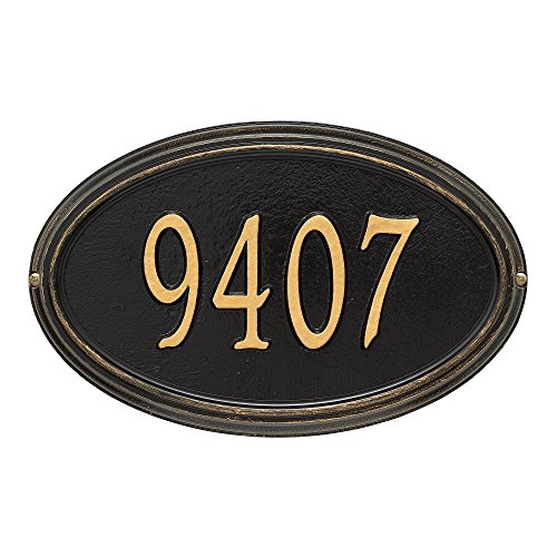 Customized Concord OVAL Standard Wall Address Plaque 21