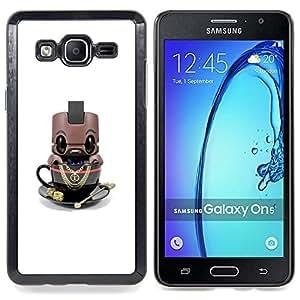 For Samsung Galaxy On5 O5 Case , Personaje de dibujos animados Toy Robot lindo - Diseño Patrón Teléfono Caso Cubierta Case Bumper Duro Protección Case Cover Funda