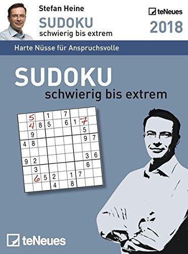 Stefan Heine: Sudoku schwierig bis extrem 2018 - Tagesabreißkalender, Rätselkalender, Logik und Wissen  -  11,8 x 15,9 cm