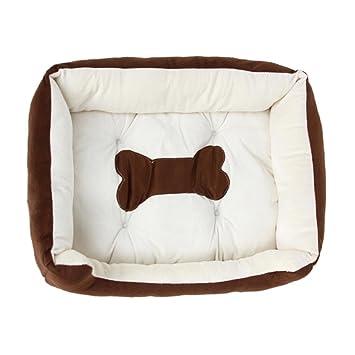 vanpower Perro Gato Rectángulo Sofá Cama, Forma de Hueso Impreso colchón del Animal doméstico Sleep Mat Cushion para Puppy Kitty Rabbit, ...