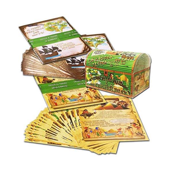 Caccia al tesoro in scatola in giardino - in spiaggia o casa/giardino 7-12 anni - per feste di compleanno - giochi per… 2 spesavip