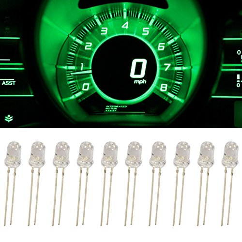 Partsam 10Pcs Green 4.7mm Mini LED Bulbs Instrument Cluster Panel Backlight Gauge Lights 12V 95ma (Led Backlight Bulb compare prices)