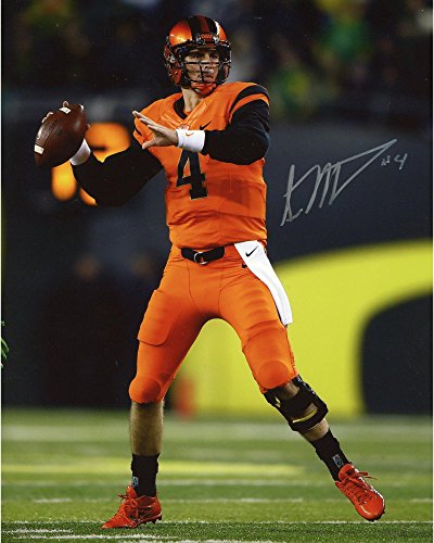 "Sean Mannion Oregon State Beavers Autographed 8"" x 10"" Orange Throwing Photograph - Fanatics Authentic Certified"