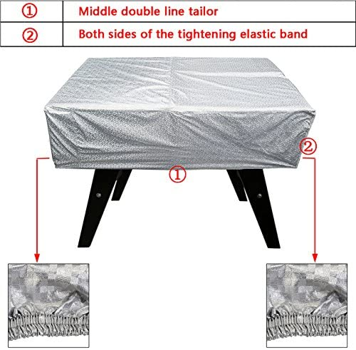 """LxWxH Black Outdoor 63/""""x45.28/""""x19.69/"""" Approx Foosball Table Cover"""