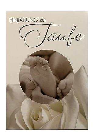 6 Einladungskarten Inkl Umschlag Zur Taufe Mit