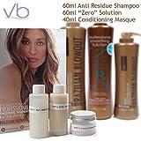 Brazilian Professional Zero Acai Solution + Anti-Residue Shampoo + Masque
