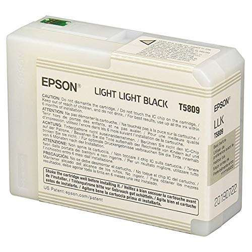 Epson T5809 UltraChrome K3 Light Light Black Cartridge Ink