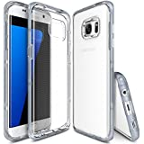Galaxy S7 Edge Case - Ringke FRAME **Dual-Layer Reinforced TPU Premium Bumper**[Frost Gray] Drop Protection Clear Soft Shock Absorption Protection Bumper for Samsung Galaxy S7 Edge