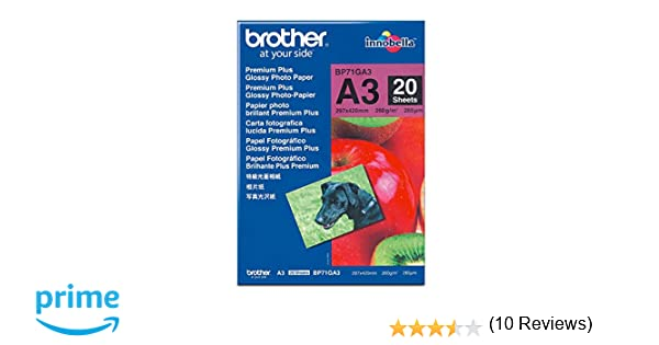 Brother BP71GA3 - Pack de 20 hojas de papel fotográfico Glossy ...