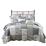 3-Piece Quilt Set Pure Cotton, Patchwork Bedspread Set, Finely Stitched, Coverlet Bed cover, Queen Size