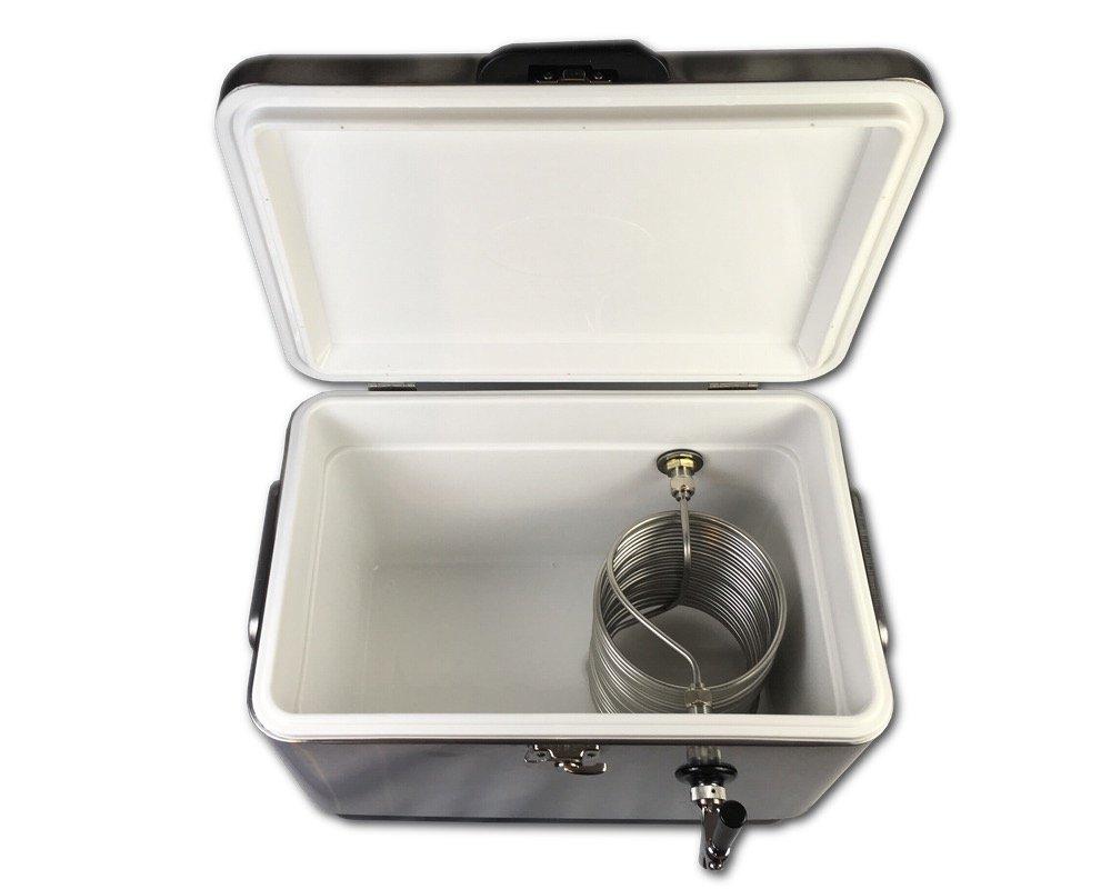 Coldbreak Brewing Equipment CBJB54SPT1 Jockey Box, 1 Tap, Stainless Pass Through, 54 quart Cooler, 50' Coil, 0.25'' ID, 0.3125'' OD, Stainless Steel, Silver by Coldbreak Brewing Equipment (Image #4)