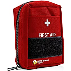 First Aid Kit for First Aid, Car kit, Survival Kit, Bug Out Bag, and Hiking or Travel. Fully Stocked First Aid Kits for Emergencies.