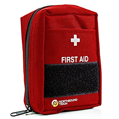 First Aid Kit for First Aid, Car kit, Survival Kit, Bug Out Bag, and Hiking, Travel, Backpacking. Fully Stocked for an Emergency.
