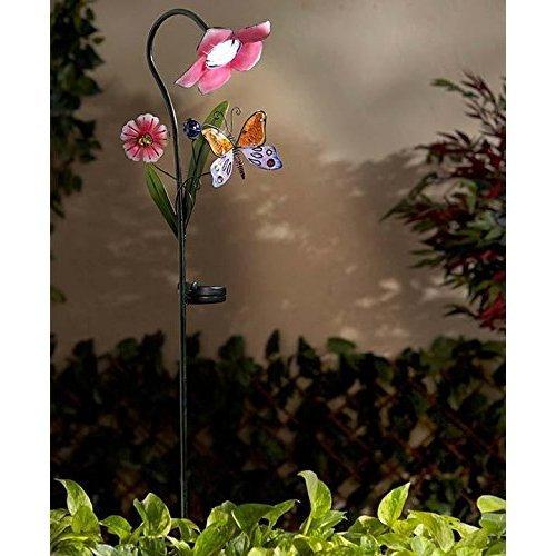 Glass Flower Path Lights - 9