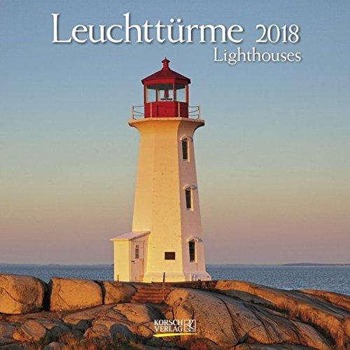Leuchttürme 2018: Broschürenkalender mit Ferienterminen. Leuchtturm und Küste. 30 x 30 cm - Wandkalender