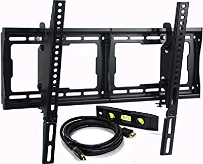 "VideoSecu Tilt TV Wall Mount Bracket for LG 32-75"" LED TV 58UF8300 60UH6090 60UH6150 60UH7650 60UJ6300 60UF7300 65UF6800 65UF6450 65UF8600 65UF7690 SUPER UHD 4K HDR Smart LED TV MF608B BBM"