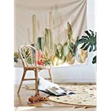 """Cactus Landscape Wall Hanging Tapestry Fabric Wallpaper Home Decor,60""""x 80"""",Twin Size"""