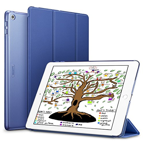 ESR-iPad-97-2018-2017-Case-Lightweight-Smart-Case-Trifold-Stand-with-Auto-SleepWake-Function-Microfiber-Lining-Hard-Back-Cover-for-the-Apple-iPad-97-inchNavy-Blue