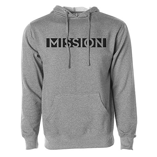- Mission Men's Pullover Fleece Hoodie, Heather Grey, Medium