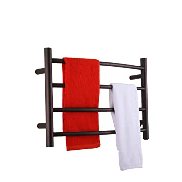 best heated towel rack wall mounted warmer freestanding electric orb oil rubbed bronze hot water