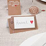 Luggage Tag Style Place Cards Pack of 50