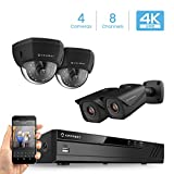 Amcrest 4K 8CH Security Camera System w/H.265 4K (8MP) NVR, (4) x 4K (8-Megapixel) IP67 Weatherproof Metal Bullet & Dome POE IP Cameras (3840×2160), 2.8mm Wide Angle Lens, 98ft Nightvision (Black) Review