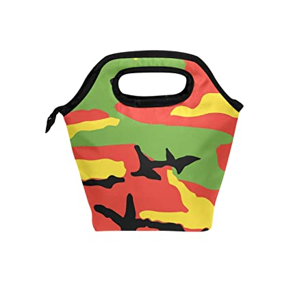 Amazon Com Rastafari Camo Raggae Camouflage Lunch Bag Tote Bag