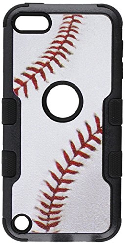 (MyBat Phone Case for Apple iPod Touch - Retail Packaging - Black/Black)