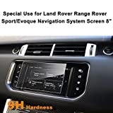 Land Rover Range Rover Sport/Evoque 2013-2016 8-Inch Car Navigation Screen Protector,LFOTPP [9H Hardness] Tempered Glass Center Touch Screen Protector Anti Scratch High Clarity
