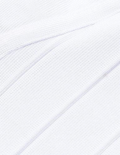 Vestito Senza Donna Bianco maniche Sera Shownice WZ1qxYnwAw