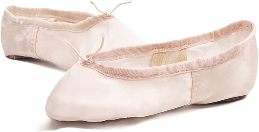 APTRO PU Ballet Shoes Split Sole with Satin Gymnastics Dance Shoes Flats for Girls Adults