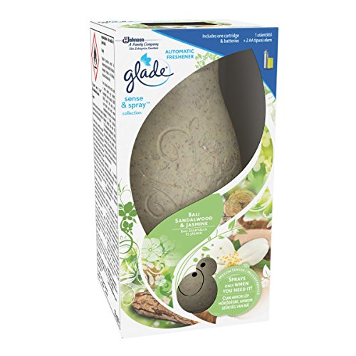 Glade Sense & Spray Air Freshener Refill, Automatic and Manual Diffusion with Starter Kit, 18 ml, Bali, Sandalwood & Jasmine Fragrance SC Johnson Ltd. 668337