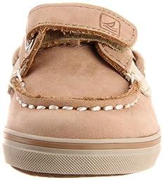 Sperry Bluefish Hook & Loop Boat Shoe (Infant/Toddler/Little Kid),Linen/Oat,1 M US Infant