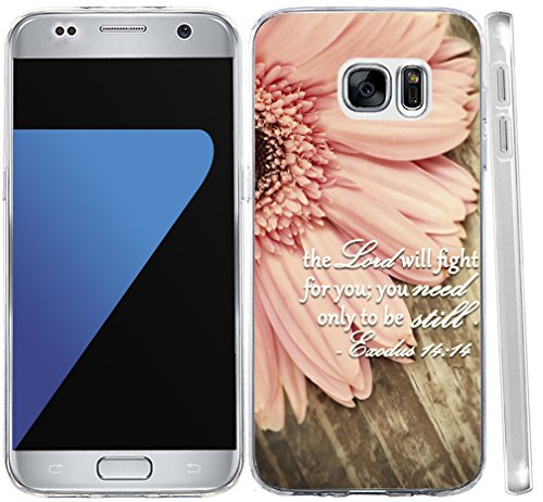S6 Case Christian Sayings,S6 Case Bible Verses, Hungo Soft TPU Silicone Protective Cover Compatible with Samsung Galaxy S6 The Lord Will Fight for You Only Need to Be Still (Be Still For The Power Of The Lord)