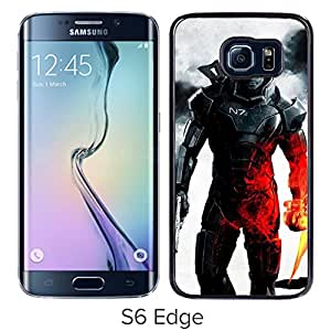 New Beautiful Custom Designed Cover Case For Samsung Galaxy S6 Edge With Military Fire War Fighting Soldier Phone Case