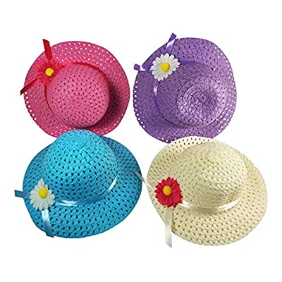 Butterfly Twinkles Girls Tea Party Hats Purses Boas Dress Up Play Set for 4 Sun Hats Costumes: Clothing