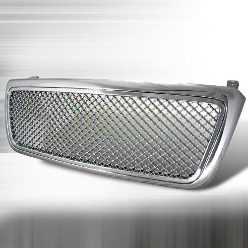 Spec-D Tuning HG-F15004C Ford F150 Xl Stx Xlt Fx4 Chrome Mesh Front Grille 1 Pc