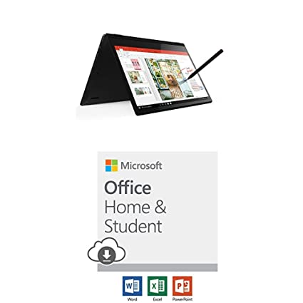 Lenovo Flex 14 with Microsoft Office Home and Student 2019 Download | 1  person, Compatible on Windows 10 and Apple macOS