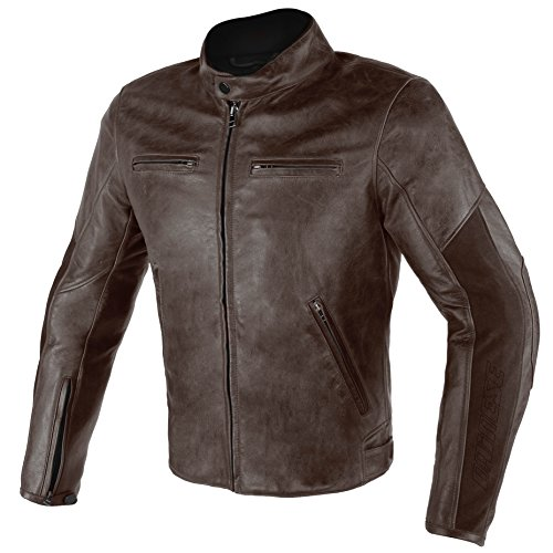 Dainese Stripes D1 Leather Jacket (46) (Dark Brown/Dark for sale  Delivered anywhere in USA