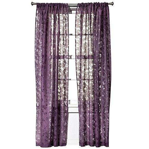Botanical Burnout Window Sheer - Purple (54x84