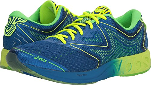 ASICS Men's Noosa FF Running Shoe, Imperial/Safety Yellow/Green Gecko, 11 M US