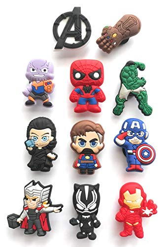 Superhero Shoe Charm Decoration by Worked Like A Charm| for Bracelets and Shoes Party Favors Supply (Set 1)