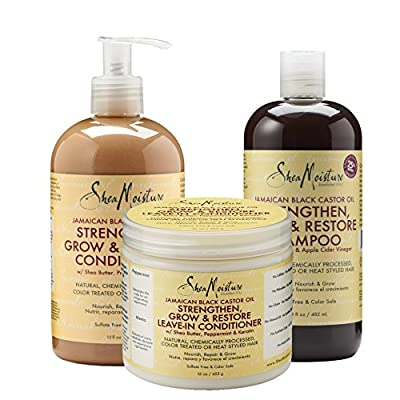 Shea Moisture Jamaican Black Castor Oil Strengthen, Grow & Restore System - Combination Pack