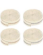 4 Rolls Flat Cotton Wick, 6.6 Feet Oil Lamp Wick 0.79 Inch Oil Lantern Wick for Kerosene Oil Lamp Lantern (Red and Dark Blue Stitch)