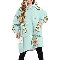 Shujin Sherpa Poncho Manta con capucha unisex de gran tamaño con estampado de moda, manta cálida y acogedora para…