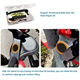 Exppsaf Bike Inner Tire Patch Repair Kit - with 12